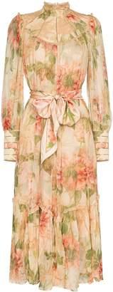 Zimmermann floral print swing midi dress