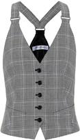 Max Mara Arley checked cotton vest