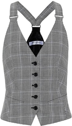 Max Mara Arley checked cotton vest