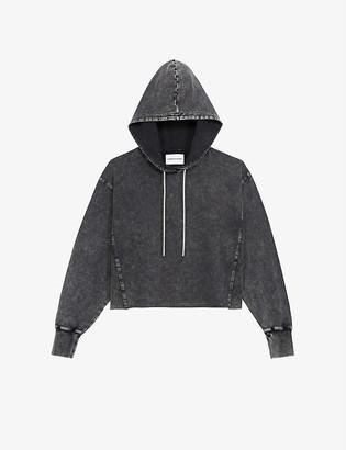 The Kooples Sport Faded cotton-jersey hoody