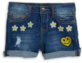 Vigoss Girls 2-6x Life is Happy Distressed Denim Shorts