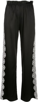 Icons Camelia lace stripe trousers