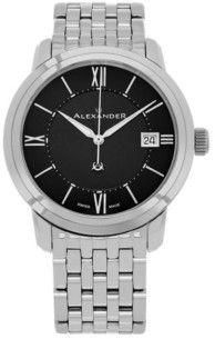 Stuhrling Original Alexander Watch A111B-03, Stainless Steel Case on Stainless Steel Bracelet