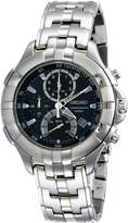 Seiko Men's Retrograde Chronograph Silver Tone SPC011 Stainless-Steel Chronograph Watch with Dial