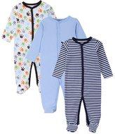JIAJIA Newborn Baby Boys Cotton Footed Sleeper Pajama Onesies 3 Pack 6-9 Months