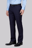 Moss Bros Tailored Fit Ink Check Pants