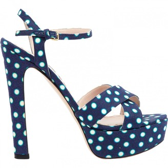 Miu Miu \N Navy Cloth Heels