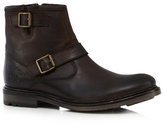 Base London Dark Brown 'zinc' Biker Boots
