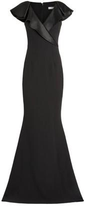 Safiyaa Ruffle-Detail Gown