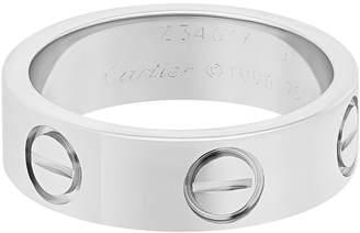Cartier Estate 18K White Gold Love Ring, Size 5.75