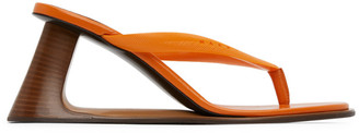 Marni Orange Open Heeled Thong Sandals