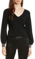 Milly Women's Gem Cuff V-Neck Sweater