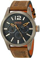 HUGO BOSS BOSS Orange Men's 1513240 PARIS Japanese Quartz Brown Watch with Analog Display