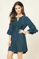 Forever 21 FOREVER 21+ Bell-Sleeve Mini Dress