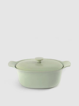 "Berghoff Ron 11"" Cast Iron Covered Casserole 5.5QT, Green"