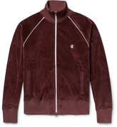 Todd Snyder + Champion - + Champion Contrast-tipped Cotton-velour Track Jacket - Merlot