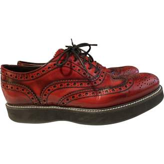 Church's Red Leather Lace ups