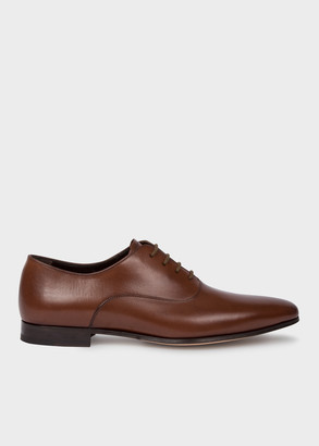 Paul Smith Men's Dark Tan 'Fleming' Calf Leather Oxford Shoes