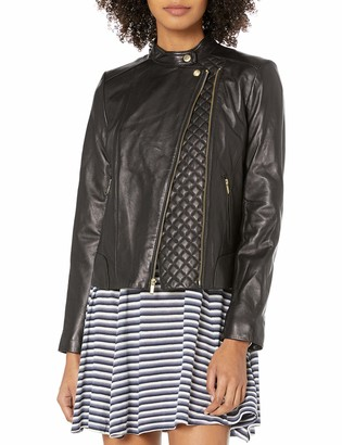 Cole Haan Women's Assymetrical Moto Jacket