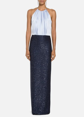 St. John Glimmering Sequined Knit Gown