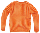 Angel & Rocket Boys' Ripple Knit Jumper, Orange