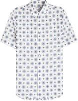Alexander McQueen Printed Cotton Short Sleeved Shirt