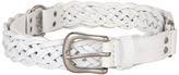 Calvin Klein 1 Buckle w/ Smith Tabs, Logo, Rings and Panel (White) - Apparel