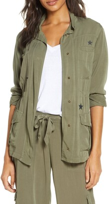 PJ Salvage Weekend Warrior Star Print Jacket