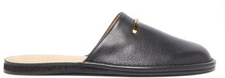 Dunhill Duke Backless Leather Loafers - Mens - Black