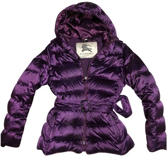 Burberry Purple Polyester Coats
