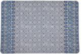 """N. Nicolette Mayer Iznik 17"""" Rectangle Pebble Placemats, Set of 4"""