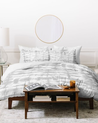 Express Deny Designs Lateral Soft Gray Duvet Cover Set