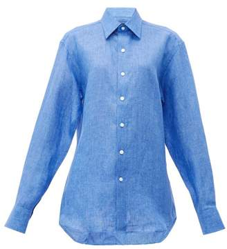 Emma Willis Linen Shirt - Womens - Mid Blue