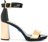 Loriblu contrast heel sandals - women - Leather/Patent Leather/rubber - 38