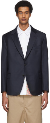 Junya Watanabe Navy Gives and Hawkes Edition Wool Jacket