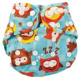 Bumkins Cloth Diaper Cover, Blue Owl, One Size by