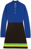 J.W.Anderson Color-Block Wool Mini Dress
