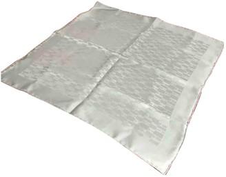 Hermes Silver Silk Scarves
