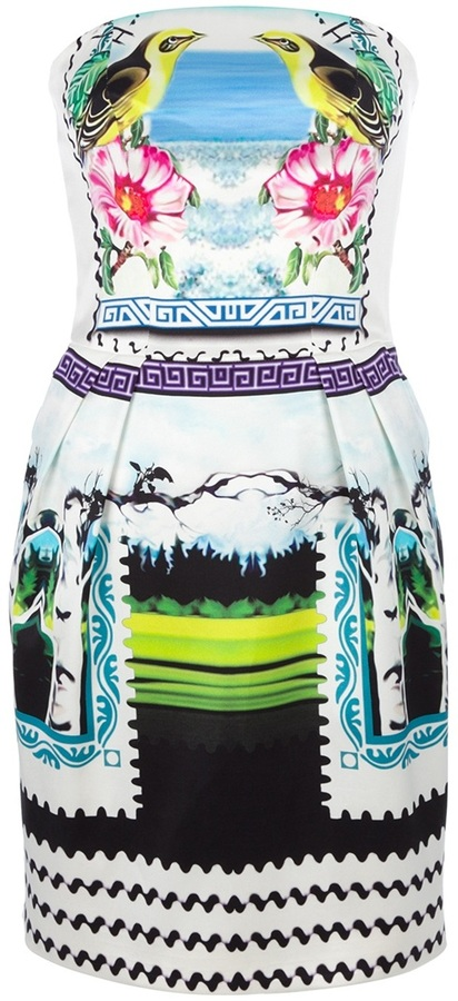 Mary Katrantzou strapless 'Rodizio' dress
