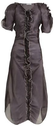 Molly Goddard Erin Ruffle-trimmed Silk-organza Dress - Womens - Black