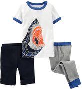 Osh Kosh Baby Boy Glow-in-the-Dark 3-pc. Shark Pajama Set