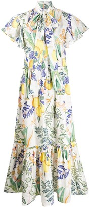 La DoubleJ Lou Lou lemon print dress
