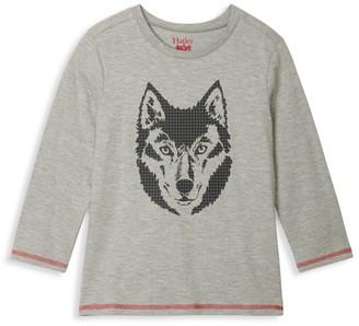 Hatley Little Girl's & Girl's Wolf Long Sleeve Top
