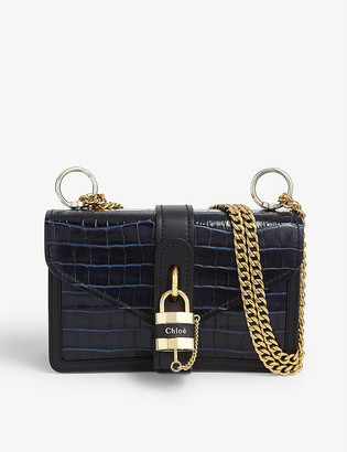 Chloé Aby Chain croc-embossed leather shoulder bag