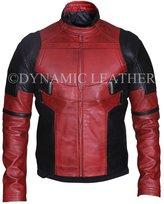 Dynamic Leather Men's Fashion Coat Deadpool Wade Wilson Ryan Reynolds Shearling Jacket