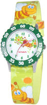 JCPenney RED BALLOON Red Balloon Kids Time Teacher Bee Print Fabric Strap Watch