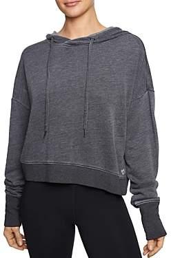 Betsey Johnson Extended-Cuff Hooded Sweatshirt
