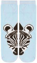 Split zebra face socks