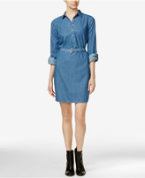 Tommy Hilfiger Anchor-Belt Chambray Shirtdress