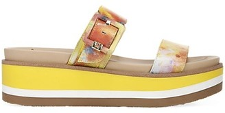 Sam Edelman Agustine Tie-Dye Leather Platform Wedge Sandals